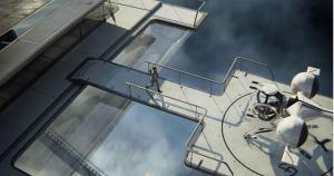 Torre 49 - local que Jack e Vika usam como casa. Vika faz o monitoramento auxiliando Jack nas manutenções dos drones. fonte: Reprodução/divulgação