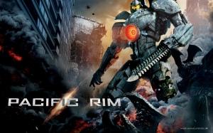 A humanidade vai em busca da salvação na tecnologia. Robôs gigantescos são criados para combater os Kaijus. Os Jagers, caçadores, são controlados pela ponte cerebral de dois pilotos humanos. Fonte: Divulgação/reprodução.