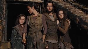 Jafé, Naameh (esposa de Noé, interpretada por Jennifer Connelly), Hem e sua esposa Ila. Fonte: Divulgação/Reprodução.